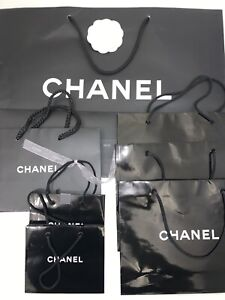 Lot of 7 Chanel Paper Shopping Bags