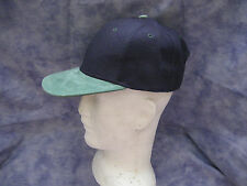 CAP Navy Blue/Green (Wool blend/Suede) adjustable - NEW !