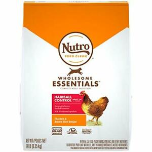 NUTRO WHOLESOME ESSENTIALS Adult Hairball Control Natural Dry Cat Food Farm-R...