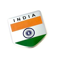 S2S India Flag 3D Metal Chrome Sticker Emblem Badge Logo for Car & Bike