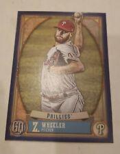 Zack Wheeler 2021 Topps Gypsy Queen #135 Baseball Indigo Parallel #047/250