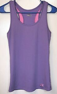 Under Armour Heat Gear Athletic Tank Top Women's Size M. Purple/Pink Accents. 💜
