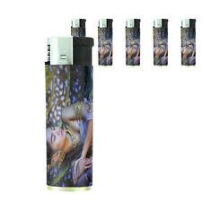 Thai Pin Up Girl D4 Lighters Set of 5 Electronic Refillable Butane