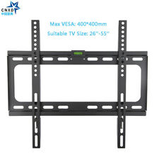 SLIM LCD LED PLASMA FLAT TV WALL MOUNT BRACKET 26 30 32 37 42 46 50 52 55 inch