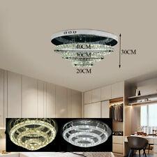 Modern Chandelier Led Crystal Pendant Lamp Round Ceiling Light 203040cm Ring