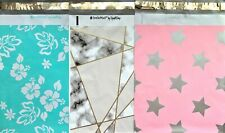 18 Designer Printed Poly Mailers 10x13 Shipping Envelopes Bags Marble Pink Star