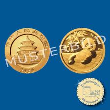 China 10 Yuan 2020 , Panda Bär * 1 Gramm - 999 Gold * in OVP Folie verschweißt
