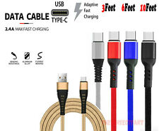 Heavy Duty Charging Phone Cable Type C Micro USB For Samsung Huawei LG Charger