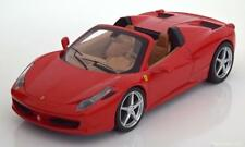 1:24 HOT WHEELS FERRARI 458 SPIDER 2011 Red