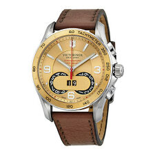 Victorinox Chrono Classic Brown Leather Mens Watch 241617-AU