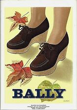 Original vintage poster print BALLY SWISS LADIES SHOES 1943