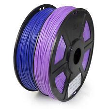 WYZ Dual Color 3D Printer Filament 1.75mm ABS 1kg/2.2lb PURPLE AND VIOLET