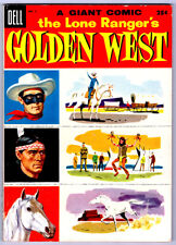 The LONE RANGER'S GOLDEN WEST #3 in VF  a 1955 DELL Golden Age Giant comic