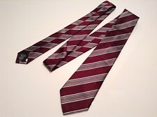 BNWT 100% Auth Paul Smith, Luxury PURE SILK Brown Striped Tie. RRP £80.00
