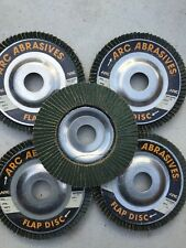 "Arc Abrasives 4 1/2"" x 7/8"" 60 Grit Zirconium Flap Discs- 5 Pcs"