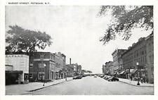 Vintage Postcard Market Street Scene Potsdam NY St. Lawrence County
