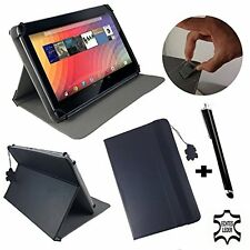 "10.1"" Genuine Leather Case Cover For Samsung Galaxy Tab A6 Tablet - 10.1"" Black"