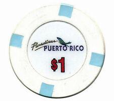 Closed $1 PARADISUS Hotel White / Blue CASINO Chip RIO GRANDE Puerto Rico