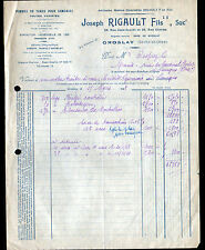 """GROSLAY (95) POMME de TERRE pour SEMENCES """"Hyacinthe / Joseph RIGAULT Succ"""" 1948"""