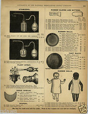 "1892 PAPER AD Jointed Rubber Doll Dolls Negro Black Baby 9"" 12"" Football Soccer"