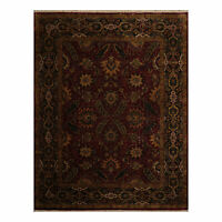 "8'2"" x 10'7"" Hand Knotted 100% Wool Oushak Oriental Area Rug Traditional Plum"