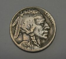 Scarce 1924-S Buffalo Nickel Grading VERY FINE 4/5 Horn Nice Original Coin   B4