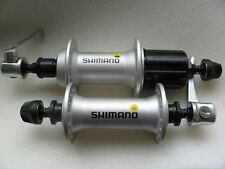 Bujes PAR DELANTERO + TRASERA moyeux Hubs 8/9-fach Shimano fh-m430/hb-m430 PLATA