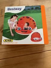 Bestway Baby Paddling Pool Covered Hooded Red Ladybird Kids Unisex New Boxed