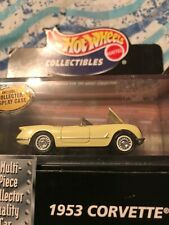1953 Corvette Yellow Hot Wheels Collectibles Black Box  with real riders Limited