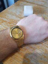 Seiko 5 SNXS80 gold tone automatic watch