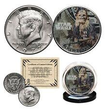CHEWBACCA - STAR WARS Genuine 1977 JFK Kennedy Half Dollar US Coin LICENSED
