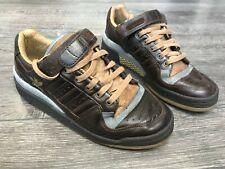 Adidas Forum Lo Metálico Marrón/plomo Zapatillas Size UK 8 (2005) Raras (463615)