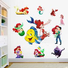 Cute Wall Sticker The Little Mermaid Ariel Princess Mural Vinyl Decals Kids Gift