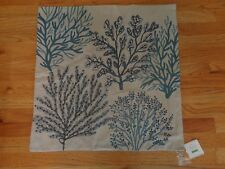 """Pottery barn LAYERED CORAL CREWEL EMBROIDERED PILLOW COVER-24""""-4 AVAILABLE-NWT"""