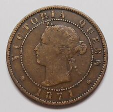 1871 Prince Edward Island Large Cent VG-F 1st & ONLY Queen Victoria P.E.I. Penny