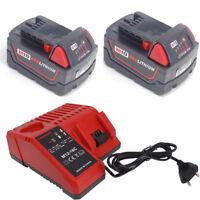 A+ Milwaukee Batterie M18B5 18 V / 5,0 Ah rouge Li-ion M18B4+chargeur M12-18C FR