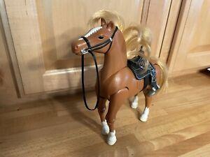 Fisher Price Loving Family Horse Brown Jumping Horse 2000 Mattel EUC
