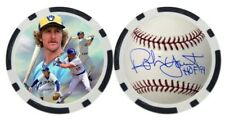 ROBIN YOUNT / MILWAUKEE BREWERS - POKER CHIP - GOLF BALL MARKER ***SIGNED***