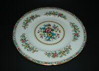 "Coalport Ming Rose Bone China Dinner Plate Scalloped England 10 7/8"""