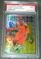 2012 CARMELO ANTHONY #299 PANINI CRUSADE GREEN PRIZM REFRACTOR  /25 PSA 9 POP 1