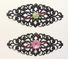 ✿ 2 Elegant Filigree Metal Embellishments ✿ New For Scrapbooking ✿ Card making ✿