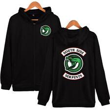 Riverdale Southside Serpents Funny Zipper Jacket Hoodies Cosplay Tops Costume