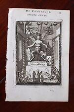 ✒ 1683 MANESSON MALLET Huitzilopochtli Vitziliputzili divinité AZTEQUE Mexique