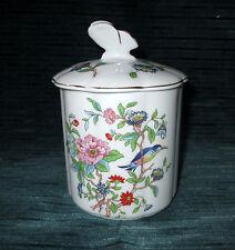 "Aynsley Fine English Bone China 3-3/8"" PEMBROKE Marmalade Jar & Lid, Butterfly"