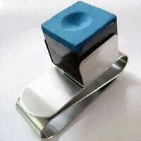 Strong Magnetic Billiard Ball Cue Pool Chalk Holder Stainless Steel S Shape Clip