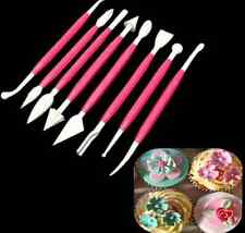 8pcs Fondant Cake Decorating Sugarcraft Paste Flower Modelling Tools Set Kit Hot