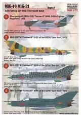 Print Scale Decals 1/32 AIR FORCES OF THE VIETNAM PART MiG-19 & MiG-21 Part 2