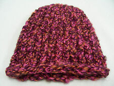PINK & BROWN - TODDLER ONE SIZE - STOCKING CAP BEANIE HAT!