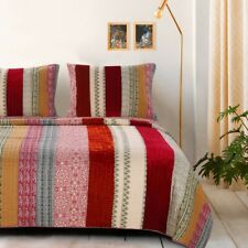 Greenland Home Fashions King Quilt Set with 2 King Shams. Msrp: $157.49