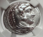 ALEXANDER III the GREAT 325BC Tetradrachm Silver Ancient Greek Coin NGC i63342